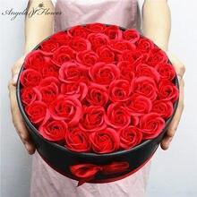 Hug Bucket okrągły kwiat pudełko papierowe + mydło w kształcie kwiatka opakowanie zestaw świeże pudełko na prezent z kwiatami wesele pudełko upominkowe materiały florystyczne