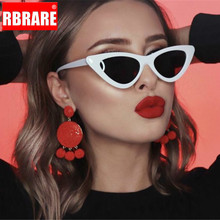 RBRARE Vintage Triangular Cateye Women Sunglasses Luxury Brand Woman Retro Candy Colors Transparent Glasses Oculos Feminino