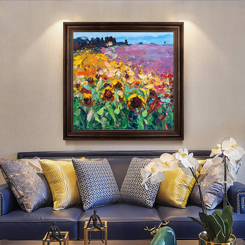 Nordic Style hand-painted Oil Painting Decorative Painting Restaurant Entrance Hallway Mural Paintings American Abstract Floral