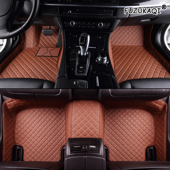 FUZHKAQI Custom car floor mats for Skoda octavia fabia rapid superb kodiaq yeti leather foot mats car styling car accessories image