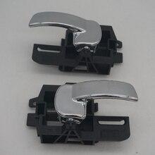80671 JD00E 80670 JD00E FOR NISSAN QASHQAI J10 (04 13)  DOOR HAND INSIDE LEFT RIGHT INTERNAL HANDLE SET CHROME