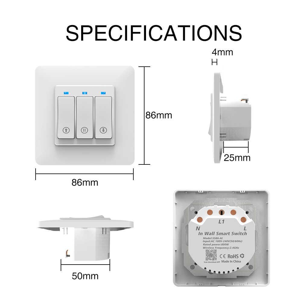 Decdeal Interruptor de Cortina WiFi Inteligente Puertas de Garaje Remotas Control Interruptor Tocado Motor de Cortina Persiana Enrollable Temporizaci/ón