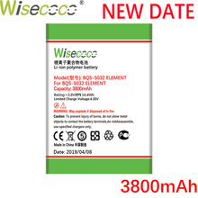 Wisecoco BQS5032 3800mAh Newly Produced Battery For BQ BQS 5032 BQS-5032 Element Mobile Phone Replace + Tracking Number