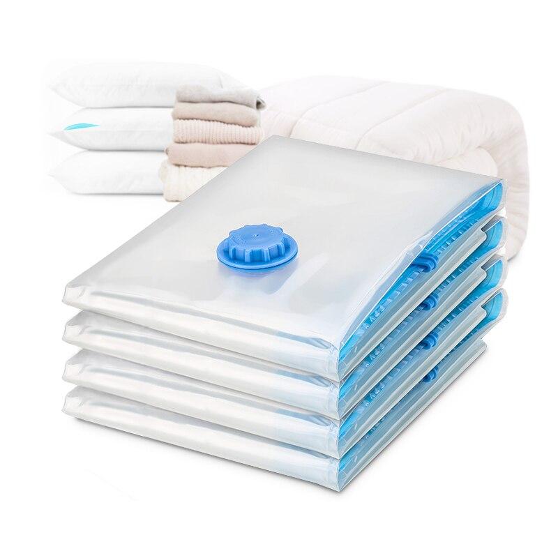 Vacuum Compressed Bag Storage Bag Home Organizer Transparent Foldable Cloth Organizer Seal Compressed Travel Saving Bag Package