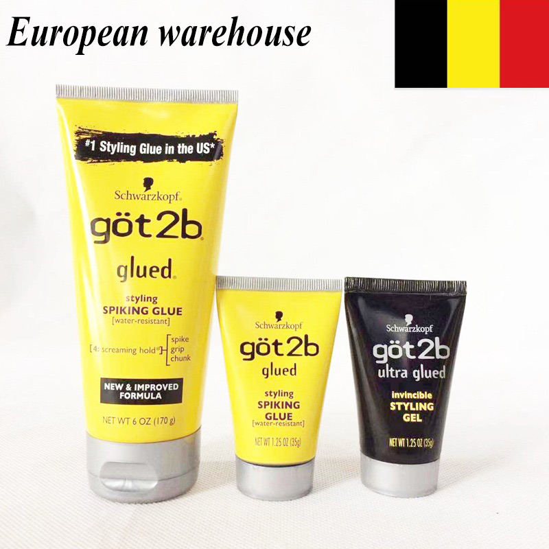 Got2b Glued Spray Gel Human Hair Styling Gel Spray 12oz Got 2b Freeze Spray Salon Modeling Wholesale Men's Hair Styling 2bglued
