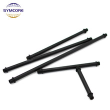 Rod Table-Lamp Threaded-Tube Black Hollow M10 2pcs Support-Tube Chandelier Connecting