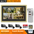HomeFong WiFi видео домофон беспроводной видеодомофон для дома 10 дюймов сенсорный экран 1080P дверной звонок смартфон управление в режиме реальног...
