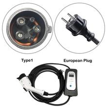 Электромобиль Электрический автомобиль тип 1 j1772 evse 16A ток регулируемый J1772 schuko Разъем EVSE уровень зарядки 2 для Ford