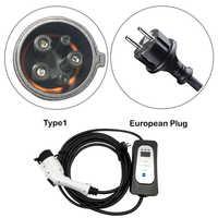 vehículos eléctricos Tipo de vehículo eléctrico 1 j1772 evse 16A corriente ajustable J1772 Shuko plug EVSE nivel de carga 2 para Ford