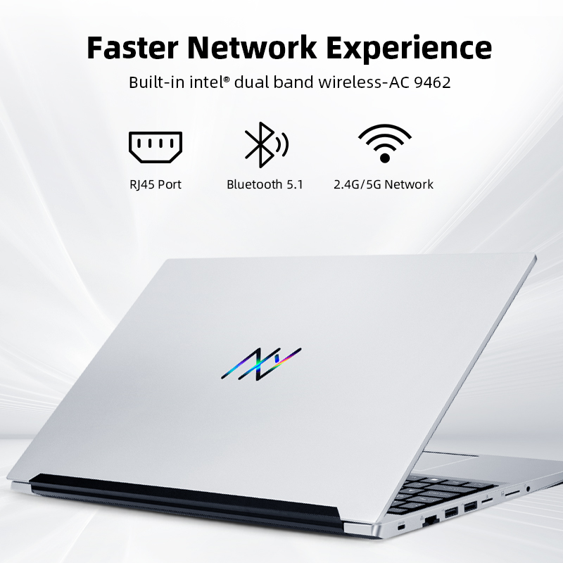 Machcreator-A Laptop Metal Ultrabook intel core i3-10110U 8G 256G SSD 15.6'' FHD IPS 2.4G+5G WiFi Portable Student Laptop Office 4