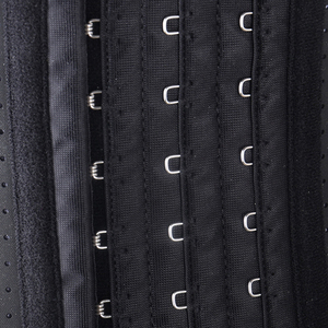 Image 5 - Burvogue Breathable Corsets Latex Waist Trainer Cincher Corset Shaper Tummy Control Short Underbust Corsets and Bustiers