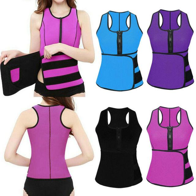 Lady Sauna Waist Trainer Vest Adjustable Slimming Sweat Belt Body Shaper Workout Trimmer Trainer Belt Fitness Shapewear