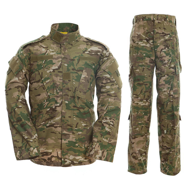 HAN WILD Multicam Camouflage Male Security Military Uniform Tactical Combat Jacket Special Force Training Army Suit Cargo Pants 4