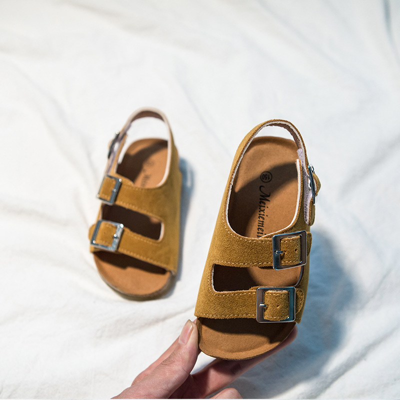 2020 Summer Boys And Girls Leather Sandals For Children Beach Shoes Kids Sports Soft Non-slip Casual Toddler Sandals 2-12 Years