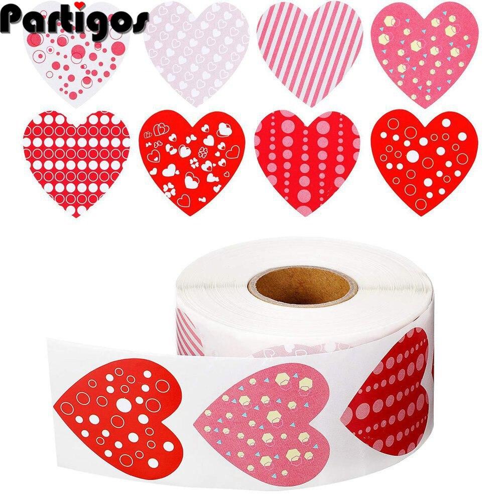 Autocollants joyeux saint valentin mariage 2.5cm, étiquettes de sceau en forme de cœur clair pour enveloppes, cadeau pour amoureux adultes, décoration de fête