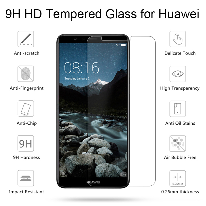 Toughed Tempered Glass For Huawei Y5 Y6 Pro Prime 2017 2018 Screen Protector For Huawei Y5 Y6S Y6 Prime Pro 2019