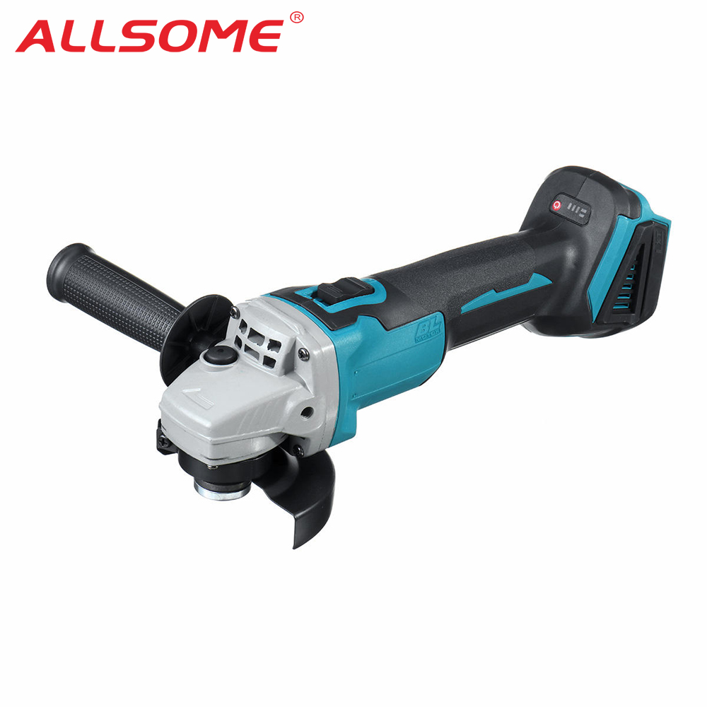 ALLSOME 800W 18V Cordless Brushless Angle Grinder For Makita DGA504Z 18V Battery 100mm Electric Grinder Grinding Machine