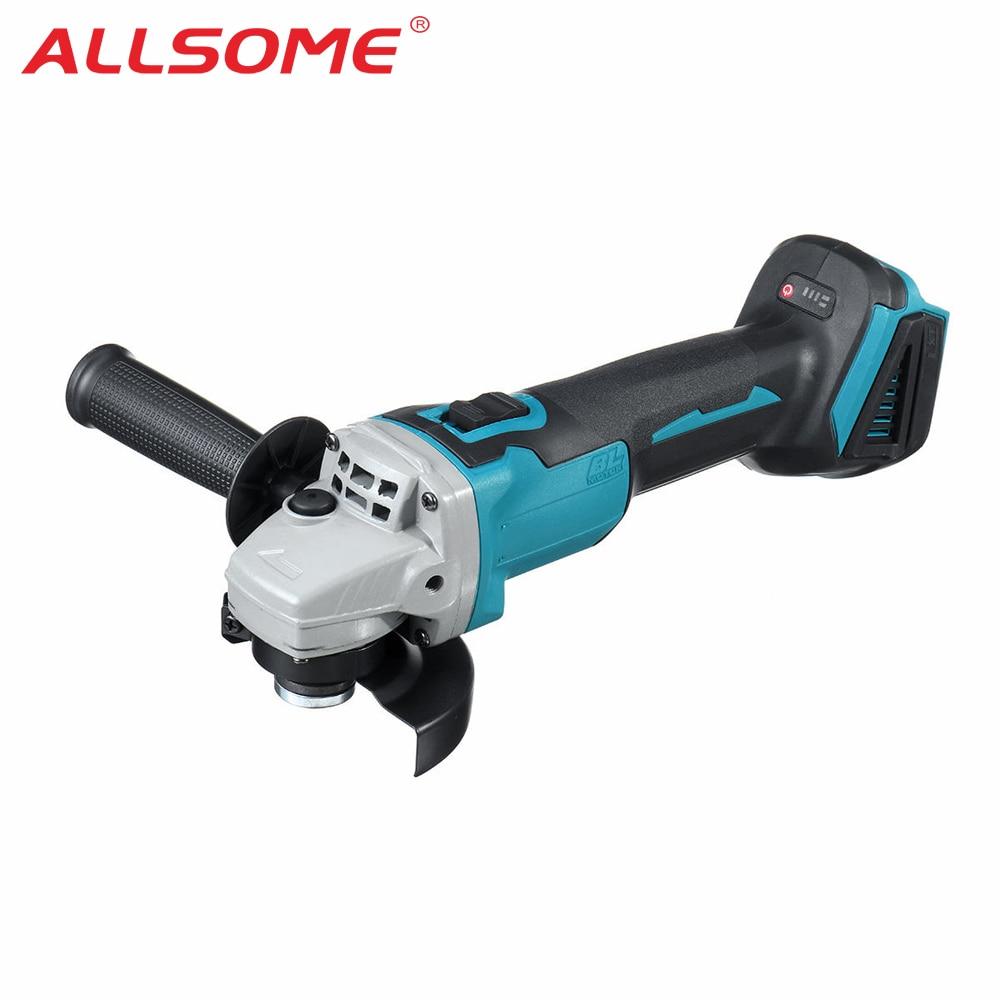 ALLSOME 800W 18V Cordless Brushless Angle Grinder For Makita DGA504Z 18V Battery 100mm Electric Grinder Grinding Machine