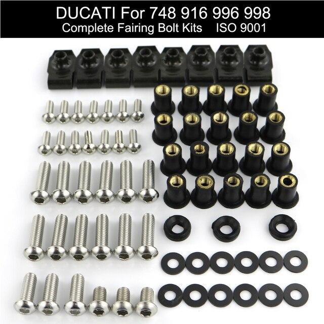 สำหรับ Ducati 748 916 996 998 รถจักรยานยนต์เต็มรูปแบบ Fairing Bolts Kit Fairing คลิปความเร็ว NUT สกรูชุดชุดสแตนเลสเหล็ก