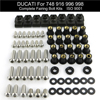 Для Ducati 748 916 996 998 мотоцикла полный комплект обтекателей болтов комплект обтекателей зажимы скоростная гайка комплект винтов из нержавеющей стали