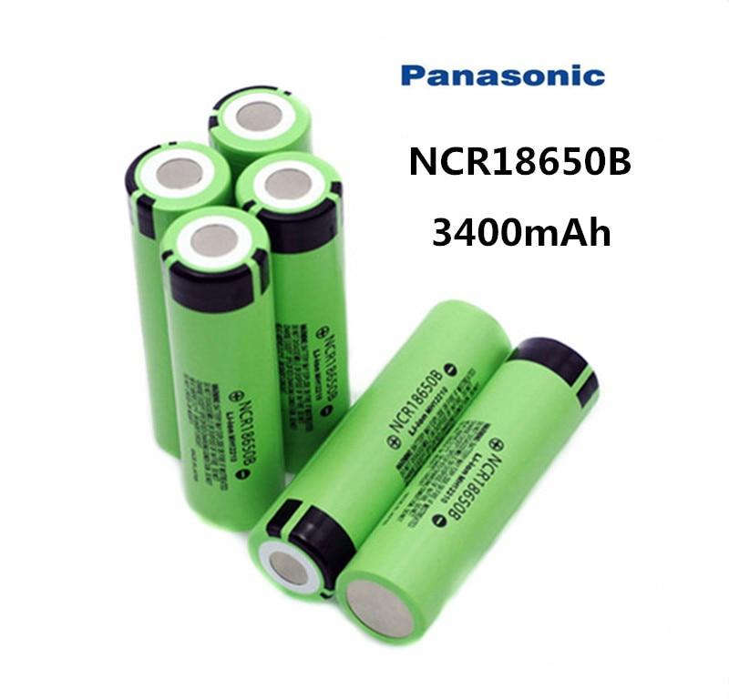 Panasonic 100% novo 18650 bateria 3400mah 3.7v bateria de lítio para ncr18650b 3400mah adequado para bateria lanterna