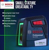 Bosch GLL30G Laser Ebene Hohe Präzision Grünen Licht Zwei Linie Horizontale Und Vertikale Laser Ebene-in Lasernivellierer aus Werkzeug bei
