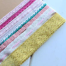 (5YARD/roll) White Beige Cotton Embroidered Lace Net Ribbons Fabric Trim DIY Sewing Handmade Craft Materials