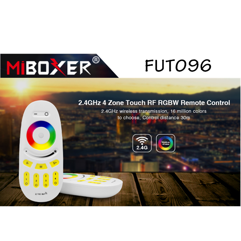 Miboxer <font><b>FUT096</b></font> 2.4GHz 4 Zone Touch RF RGBW Remote Control 30m Wireless RF Remote Controller for Milight LED Bulb Strip Light image