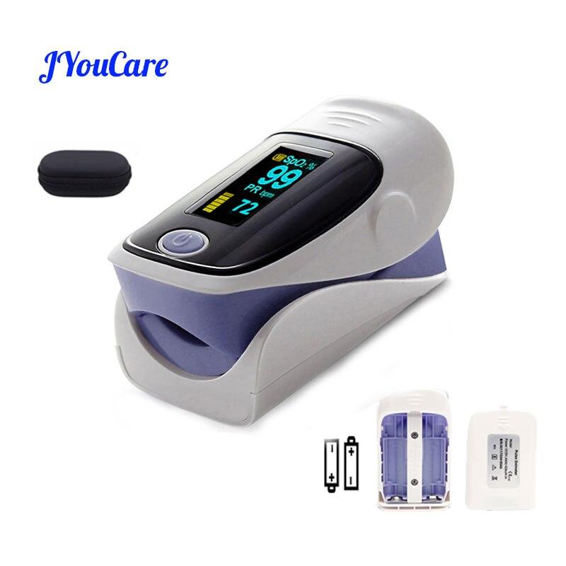 Jyhealth digital dedo oxímetro oled pulsioximetro spo2 pr alarme de saúde oximétrico dedo & caso família saúde
