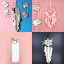 Simple Tassel Catching Monternet Large Red Dream Catcher Creative Feathers Home Pendant Decoration Wedding for Decor