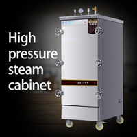 Single door steamer high pressure steaming rice cabinet large commercial steamer steamed shrimp fish ribs soup bun device Electric Food Steamers     -