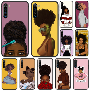 2bunz Melanin Aba African girl Phone case For Xiaomi Redmi Note 4A 4X 5 6 6A 7 7A 8 8A 4 5 5A 8T Plus Pro black shell luxury image