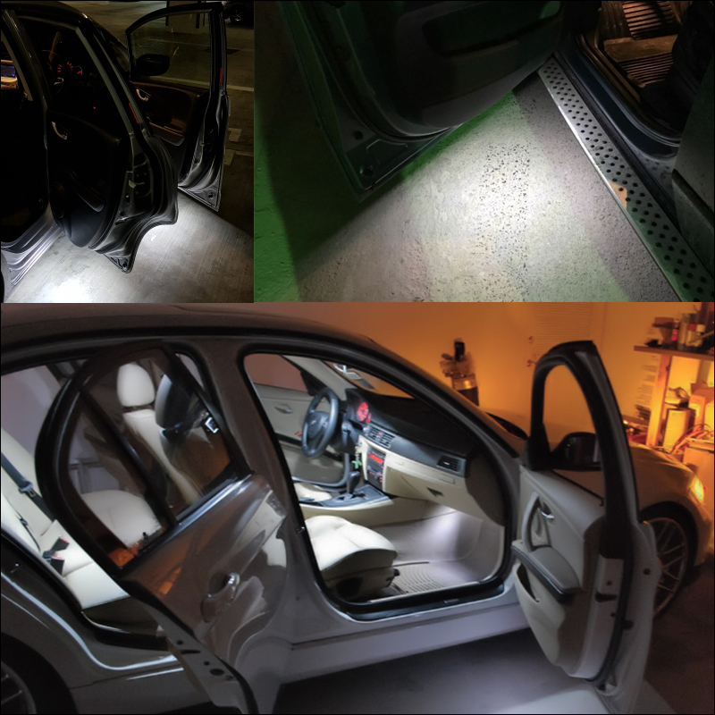 2X FOR RANGE ROVER SPORT 18 WHITE LED FOOTWELL BOOT DOOR COURTESY GLOVE BOX LAMP