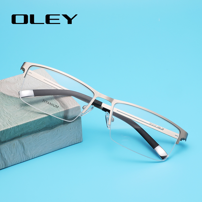OLEY Classic Business Optical Glasses Prescription Glasses Titanium Alloy Frame Myopia Hyperopia Presbyopia Glasses Y7714