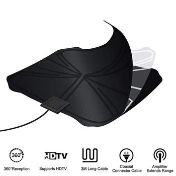 Antena wzmacniająca wewnętrzna antena telewizyjna wzmocniona dla cyfrowa telewizja HD antena antena wewnętrzna wysoka jakość dla antena HDTV T2 ATSC HD tanie i dobre opinie FORNORM NONE CN (pochodzenie) Indoor