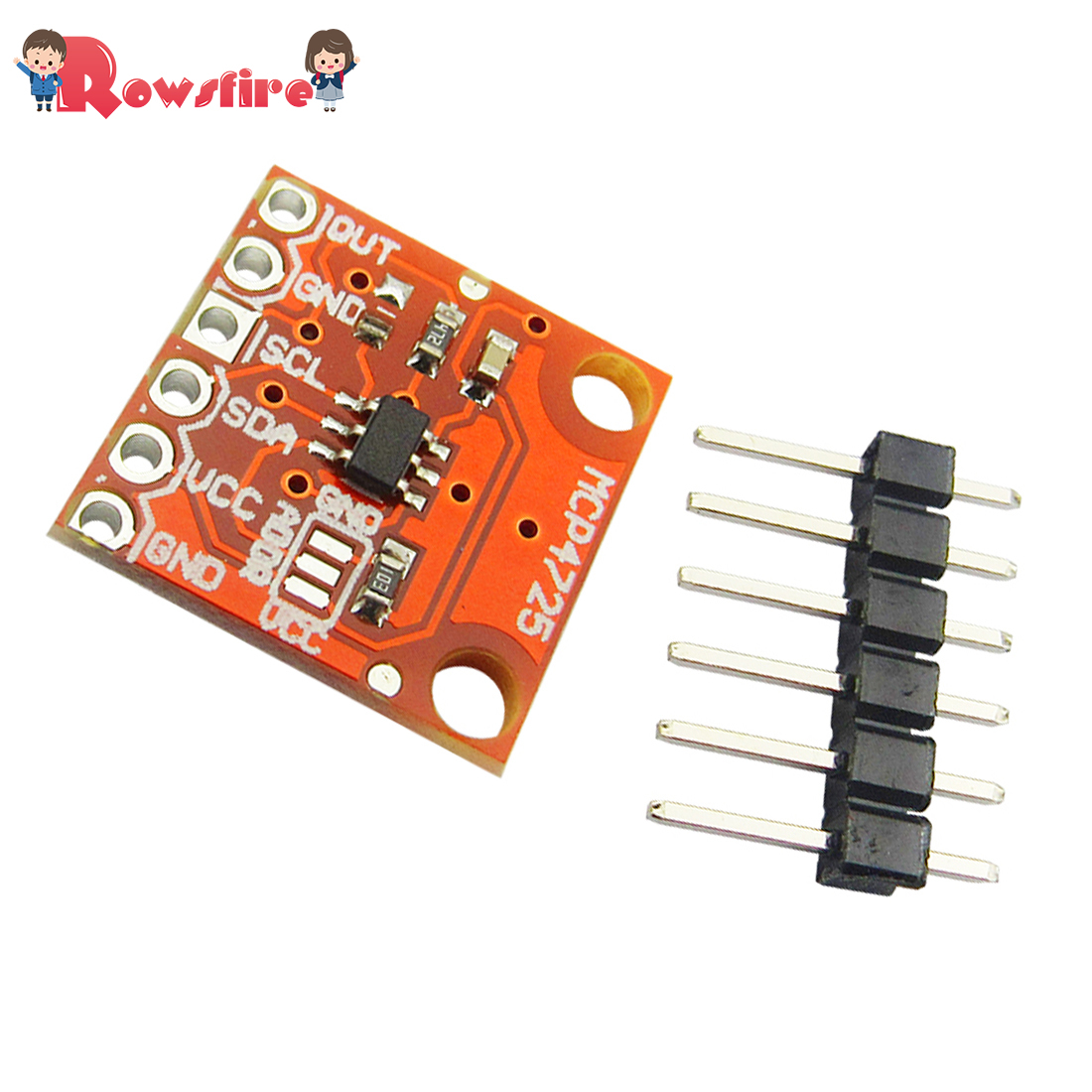 MCP4725 Module I2C DAC Breakout Development Board 12 Digit DAC Digital Model Development Board