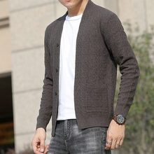 A substituting hot style knitting cardigan Korea knitting cardigan sweater male young men of high quality coat(China)