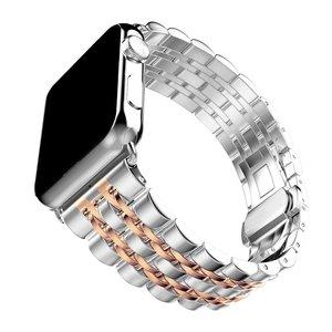Image 5 - Zegarek ze stali nierdzewnej pasek na zegarek z jabłkiem 42mm 38mm 40mm 44mm metalowa bransoleta zapasowa do serii iWatch 6 SE 5 4 3 2 1