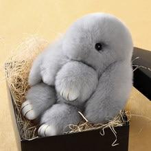 Kawaii quente bonito da vida real coelho animal pele boneca brinquedo de pelúcia crianças presente aniversário boneca chaveiro decorações brinquedos recheados mr141