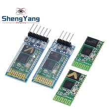 HC-05 HC 05 hc-06 HC 06 RF bezprzewodowy urządzenie nadawczo-odbiorcze Bluetooth moduł Slave RS232 TTL do UART konwerter i adapter do arduino tanie tanio Nowy Electronic products HC-05 06 Bluetooth Transceiver Module Komputer -40-+85 3 3~6V 30 MA DIY KIT For Arduino STM