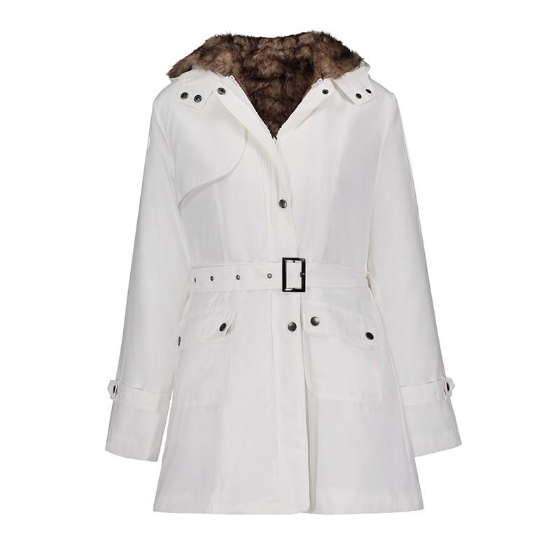 Women Down Jacket Winter Coat Warm Parka Plus Size 3XL 2019 Black Thick Fleece Casual Female Hooded Outwear Zipper Long Overcoat