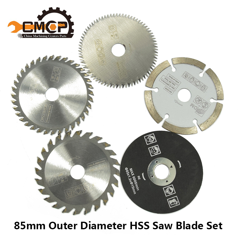 5pcs 85mm Cutting Tool Saw Blades For Power Tool Circular Saw Blade For Wood HSS Saw Blade Dremel Cutter Circular Mini Saw Blade