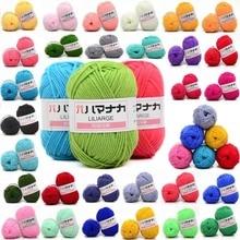 Wool-Yarn Knitting Sweater Craft Crochet Supersoft Hand-Lot Colorful Babycare Cotton