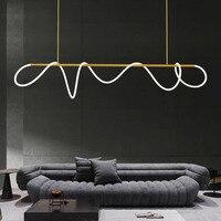 Lámpara colgante LED de latón Estilo nórdico minimalista, moderna, para LOFT, comedor, sala de estar, decoración del hogar, accesorios de iluminación