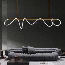 İskandinav Minimalist LED kolye ışık Modern pirinç LED asılı lamba LOFT yemek odası oturma odası ev Deco aydınlatma armatürleri
