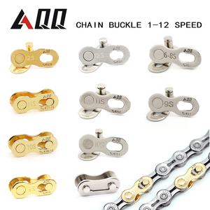 AQQ 10 Pair 1/6/7/8/9/10/11/12 Speed Bicycle Chain Link Chain Buckle Missing Link Chain button Movable joint Brand products(China)