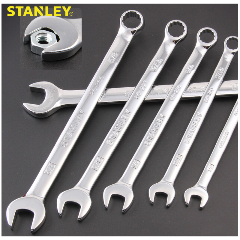 Stanley Professional Combination Imperial Spanner 1/4 5/16 3/8 7/16 1/2 9/16 5/8 11/16 3/4 13/16 7/8 15/16 1 Inch Wrench Combo