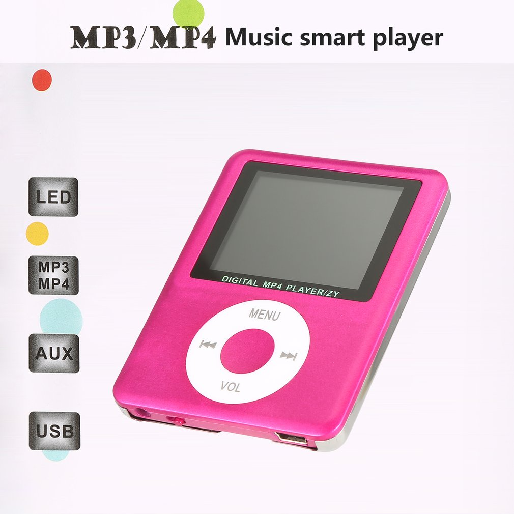3 Generations MP4 Card With A Screen Ultra-thin Long Play Fashion Gift Music Player Video