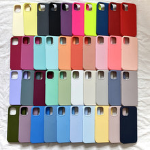 Original Official Liquid Silicone Case For iPhone 12 11 pro 6S Cases for iPhone 7 8 plus SE 2020 XR X XS 11 12 Pro Max With Box