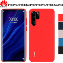 HUAWEI P30 Pro Case Official Original High Quality Soft liquid Silicone Protective Back P20 pro Lite Cover